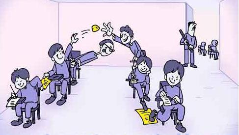 تصاویر خنده دار از تقلب کردن پسرها در امتحانات